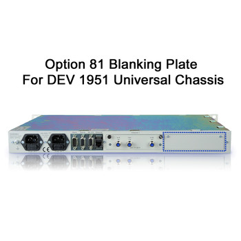 DEV Option 81 Blanking Plate
