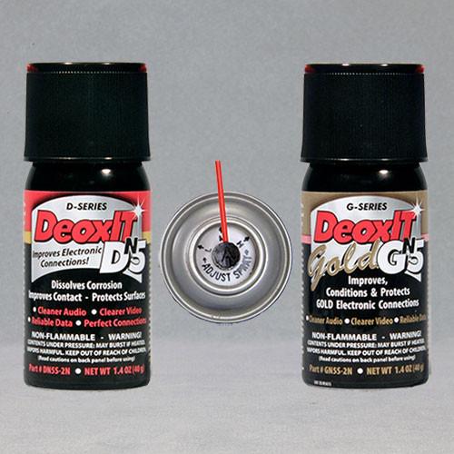 NEW DeoxIT® & DeoxIT® Gold Mini-Sprays (Non-Flammable, NO DRIP sprays) – #DGN5S-2N