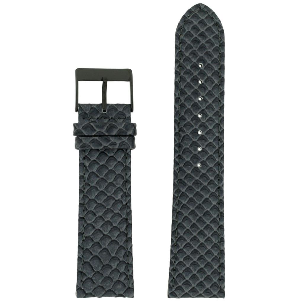 Grey Watch Band Snake Grain | Techswiss LEA1379 | Front