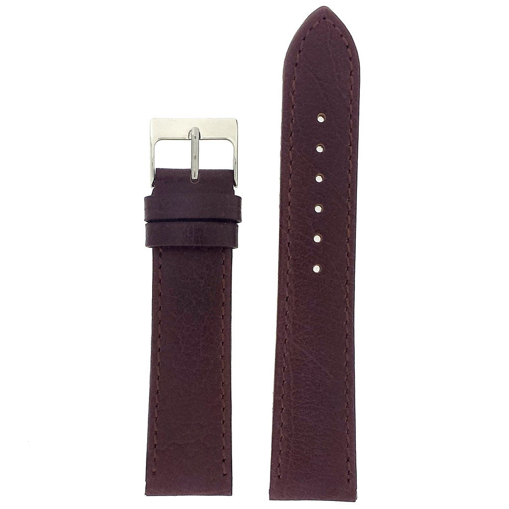 Leather Watch Band in Dark Brown | TechSwiss| LEA327 | Main