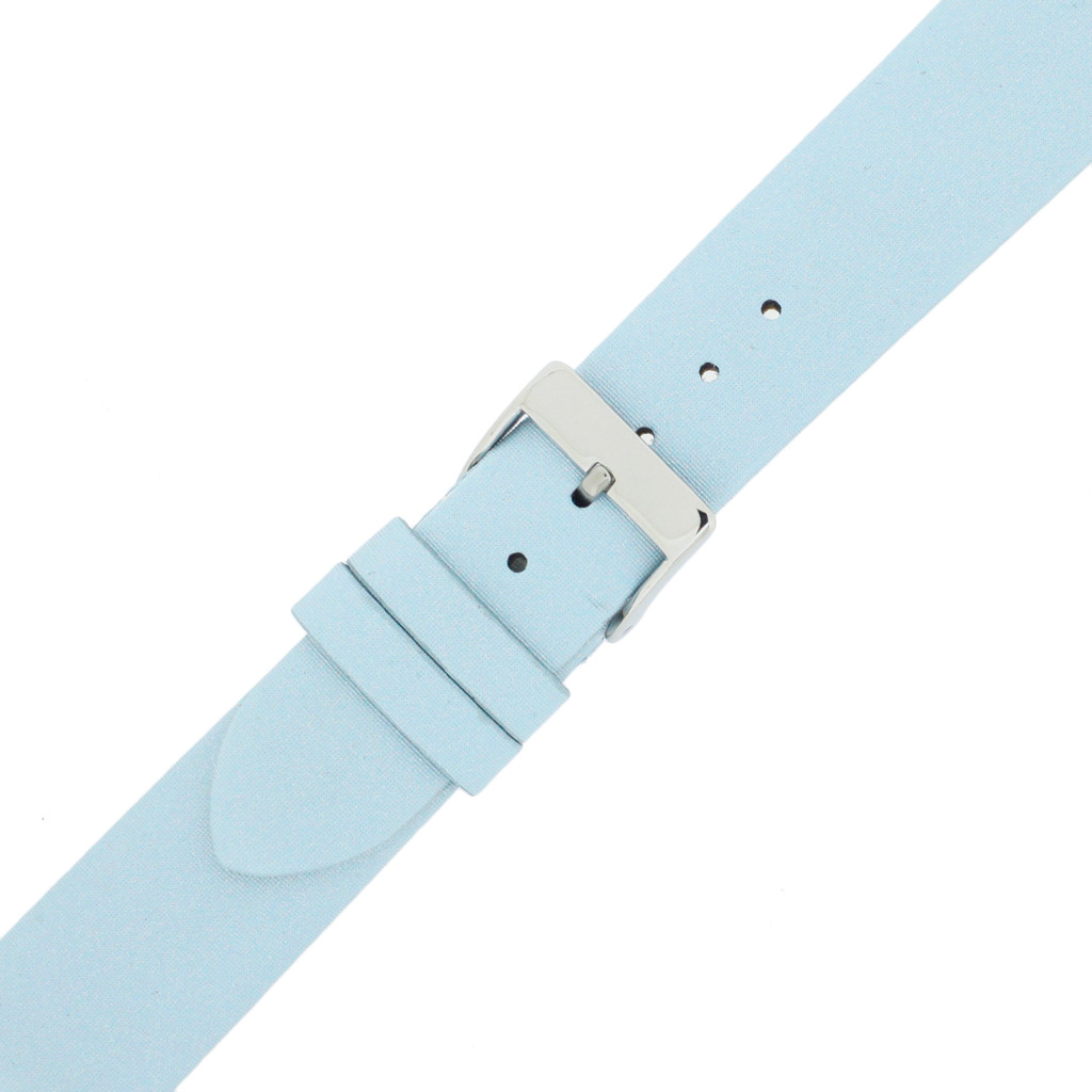 Blue Watch Band Satin Leather Watch Band |  Watch Strap | Ladies Light Blue  Watch Band | Italian Calfskin | LEA412 | Buckled