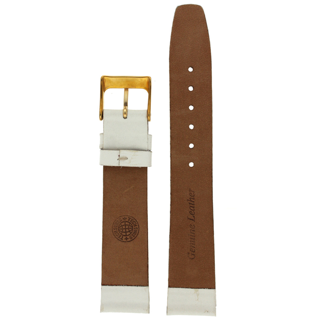 Leather Watch Band White | TechSwiss| LEA334 | Back
