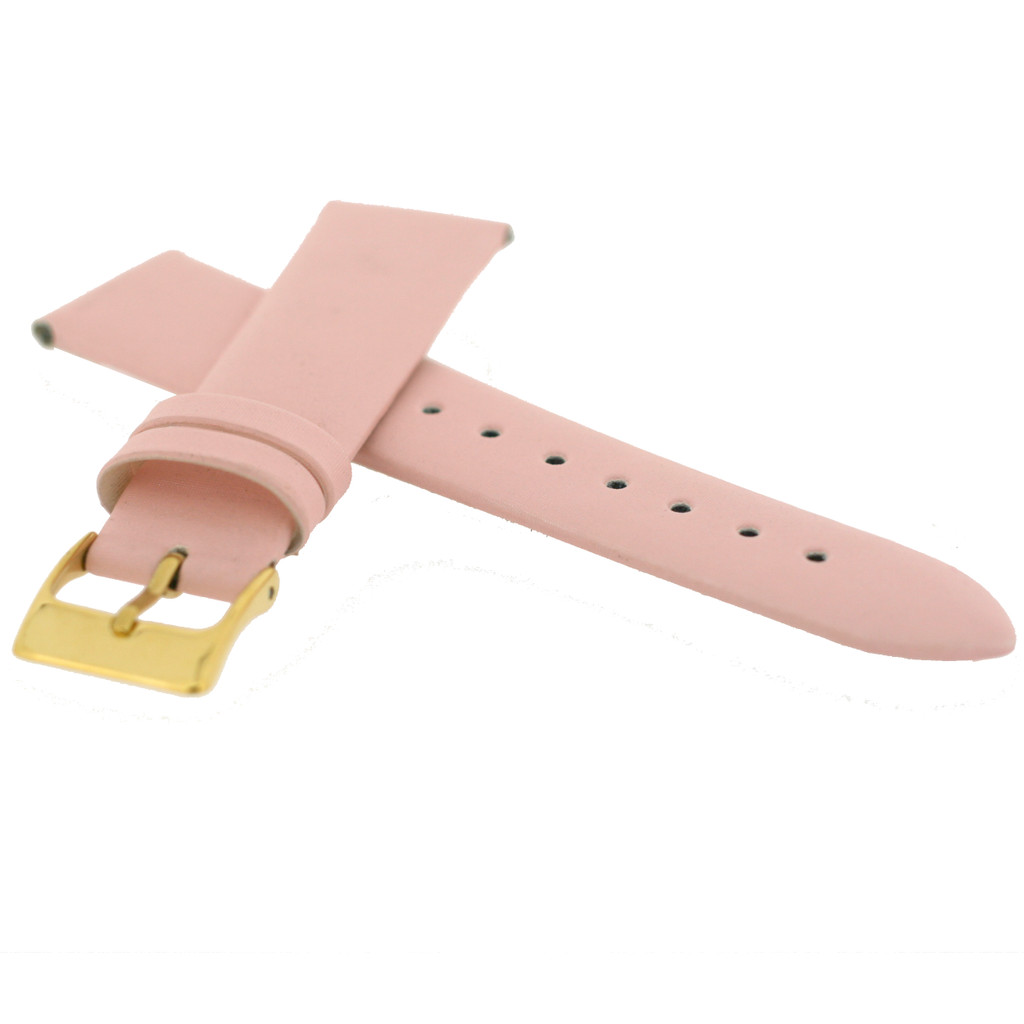 Watch Band Satin Pink LADIES LENGTH Built-In Spring Bars Short