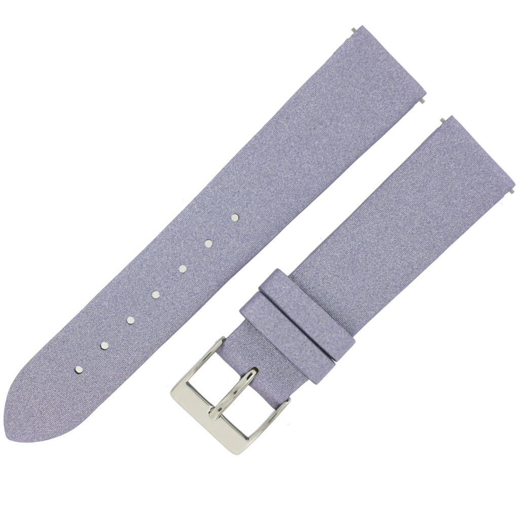 Purple Watch Band Satin Leather Watch Band | Watch Strap | Lavender Watch Band | Italian Calfskin | LEA409 | Side