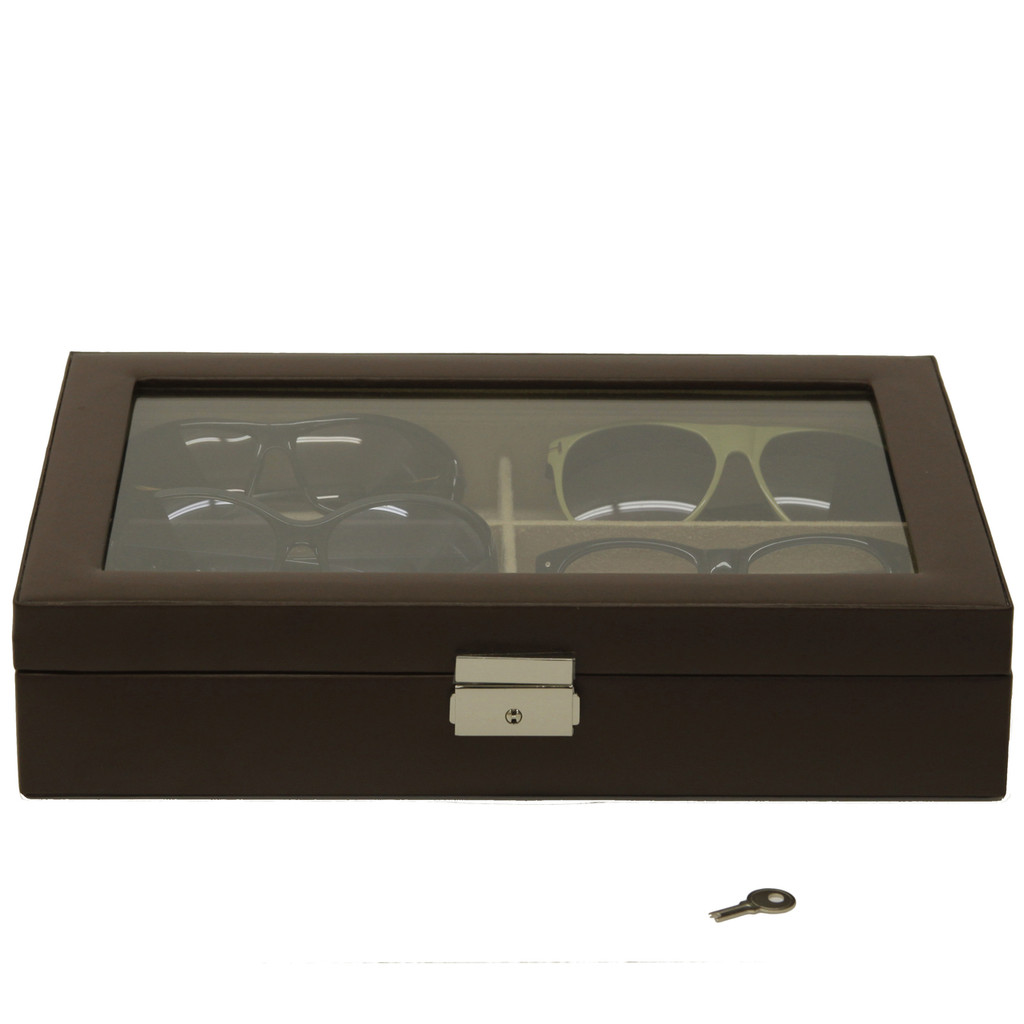 Leather Eyeglass Case Closed