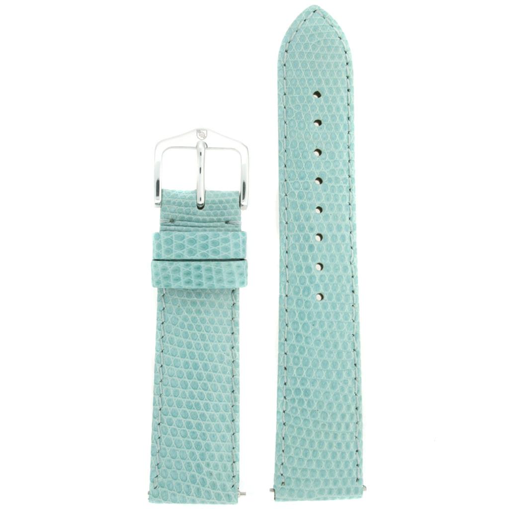 Blue Lizard Skin Watch Band   Genuine Exotic Grain Straps   TechSwiss LEA733   Main