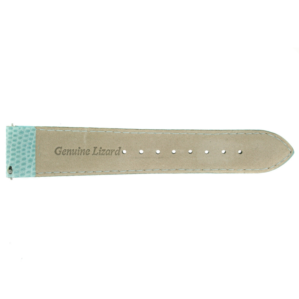 Light Blue Lizard Skin Watch Band   Genuine Exotic Grain Straps   TechSwiss LEA733   Back