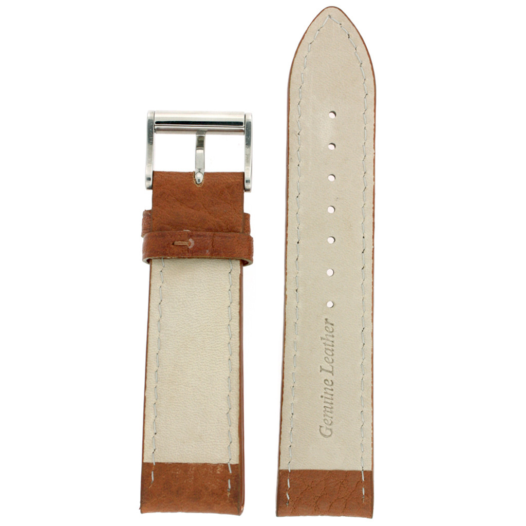 Watch Band Tan White Stitching Roller Clasp| LEA470 |TechSwiss | Back