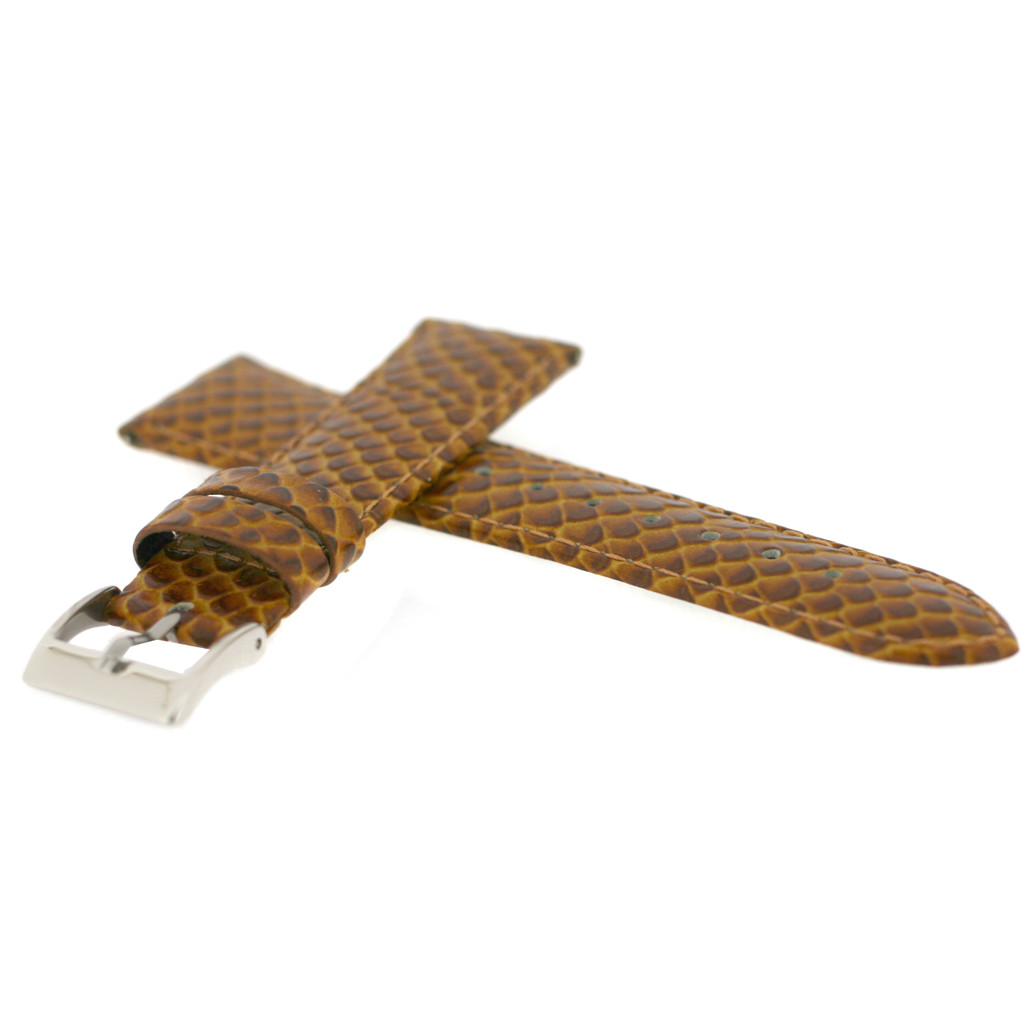 Watch Band Brown Snake Design Quick Release Spring Bars LADIES LENGTH 12mm - 20mm