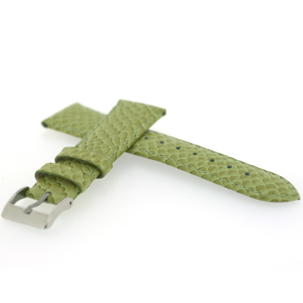 Watch Band Lime Green Snake Design Quick Release Spring Bars LADIES LENGTH 12mm - 20mm