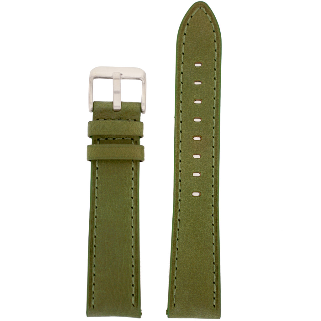 GreenLeather Watch Band with Stainless Steel Buckle | TechSwiss LEA451 | Main