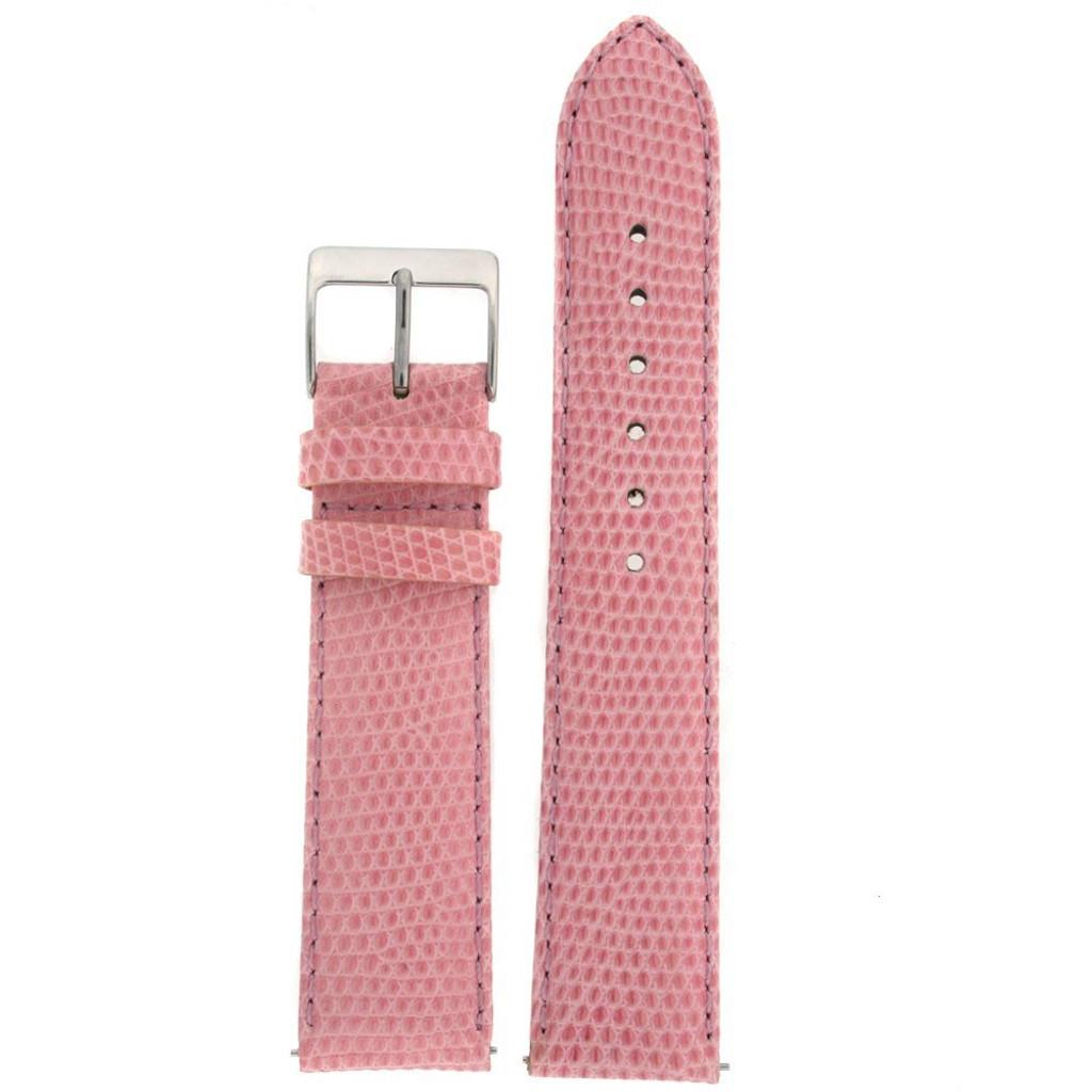 Pink Genuine Lizard Watch Band | Pin Exotic Skin Watch Band LEA721 | Main