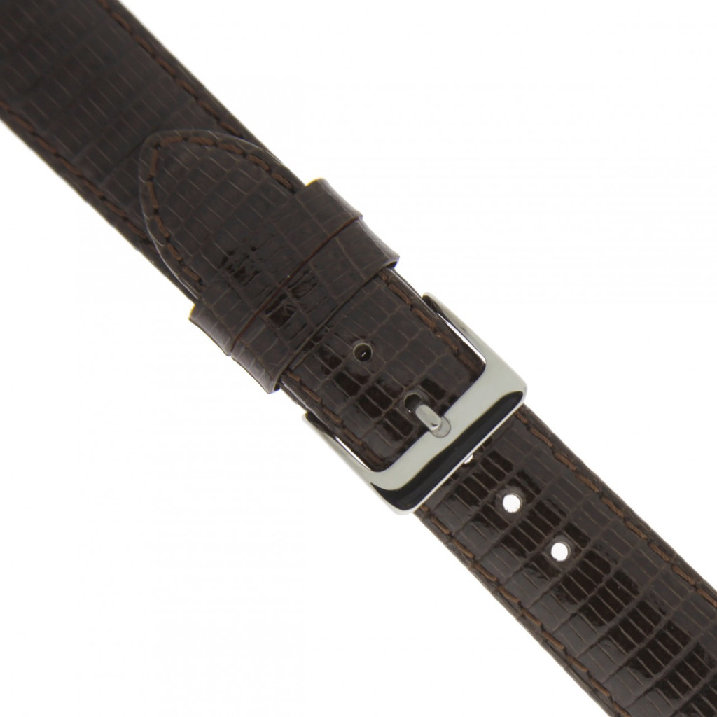 Watch Band GENUINE Lizard Leather Strap Brown 12mm - 22mm