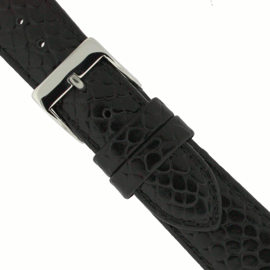 Watch Band Black Snake Design Quick Release Spring Bars 12mm -20mm