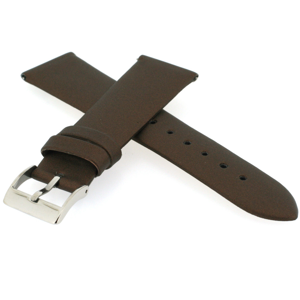 Watch Band Satin Copper Brown 12mm LADIES LENGTH Built-In Spring Bars Short