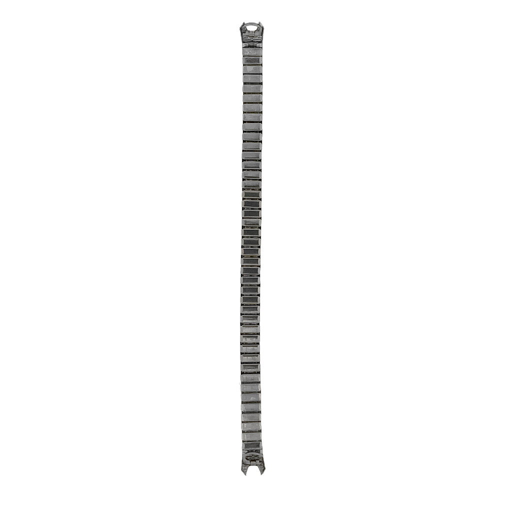 Ladies Stretch Hook Silver-tone C-Ring Watch Band | TechSwiss TSMET170 | Silver Tone | Rear