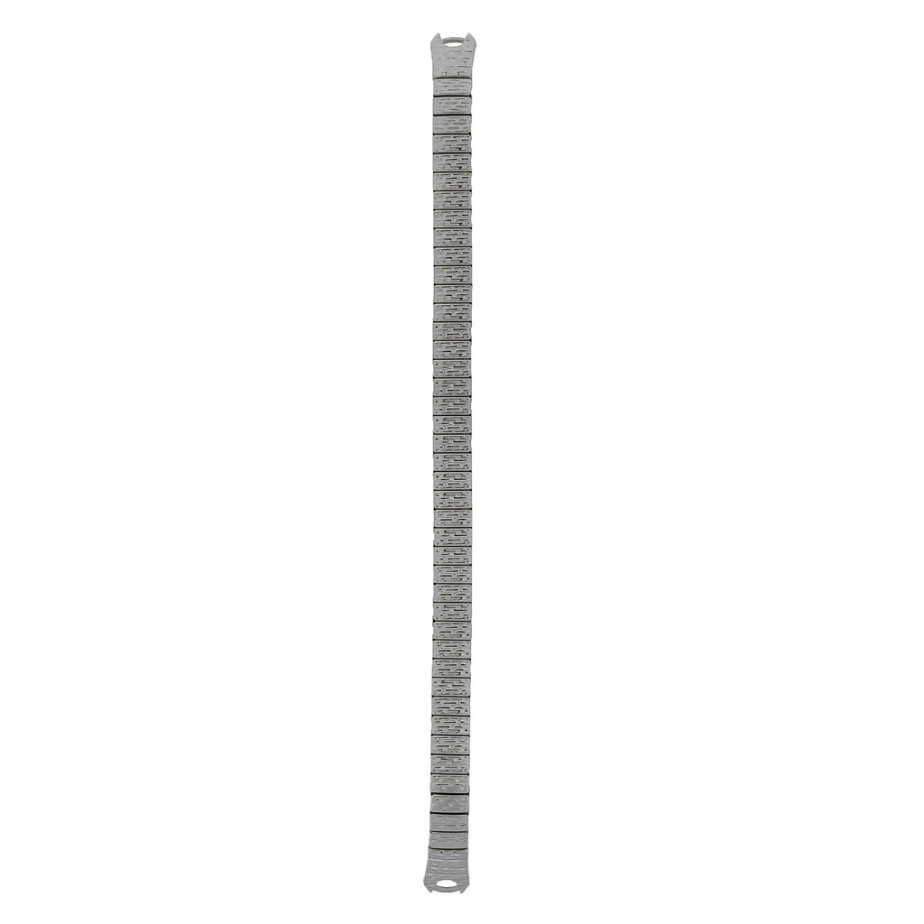 Ladies Stretch Hook Silver-tone C-Ring Watch Band | TechSwiss TSMET170 | Silver Tone | Main View