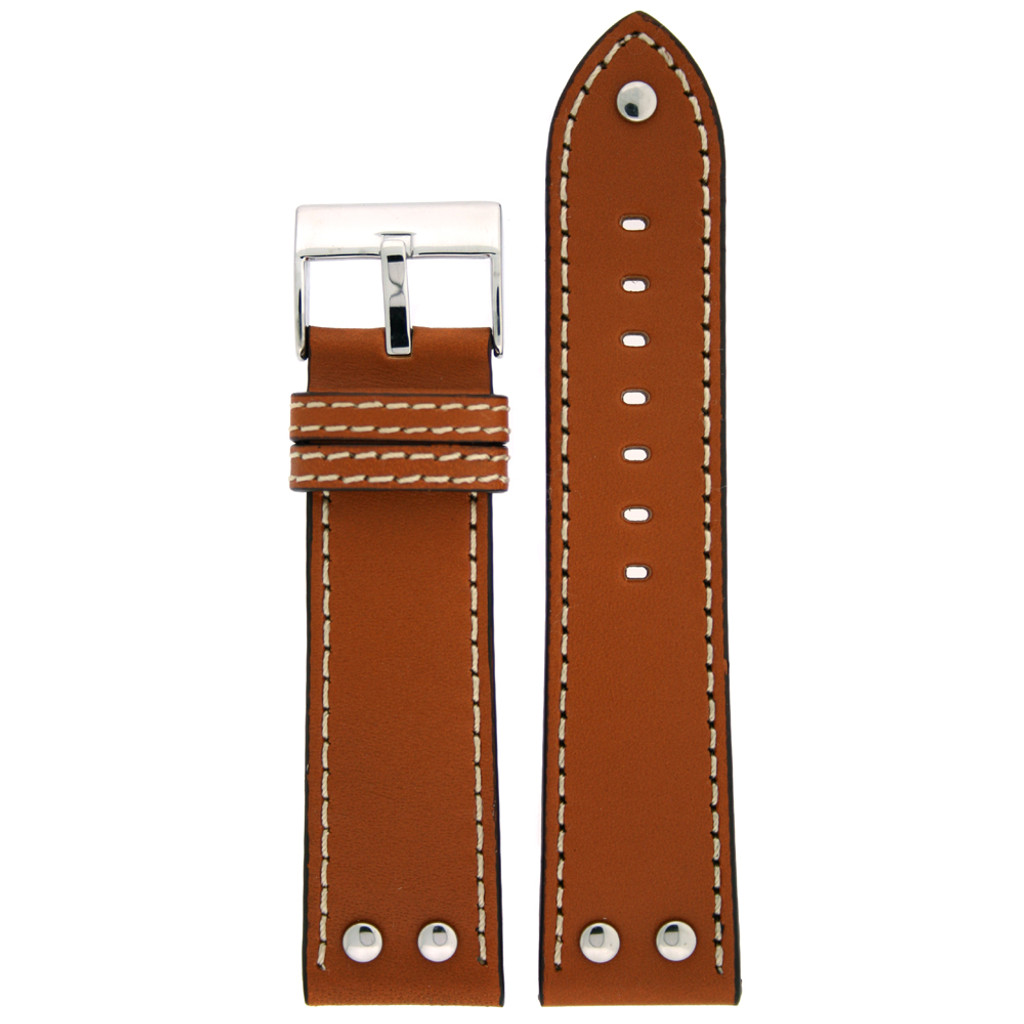 Pilot Replacement Watch Strap in Saddle Brown | LEA1310 | TechSwiss | Main View