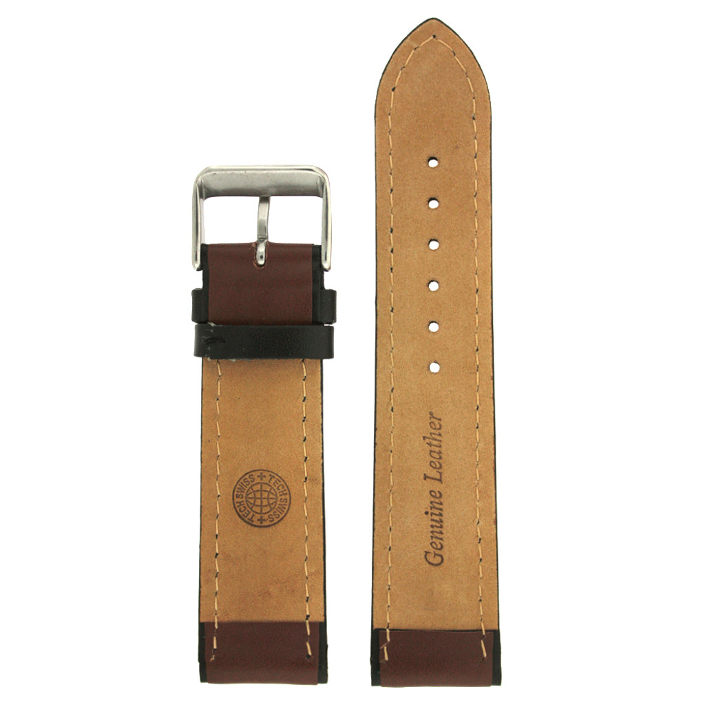 Brown Sport Style Leather Watch Band | TechSwiss Replacement Strap | LEA1352 | Interior