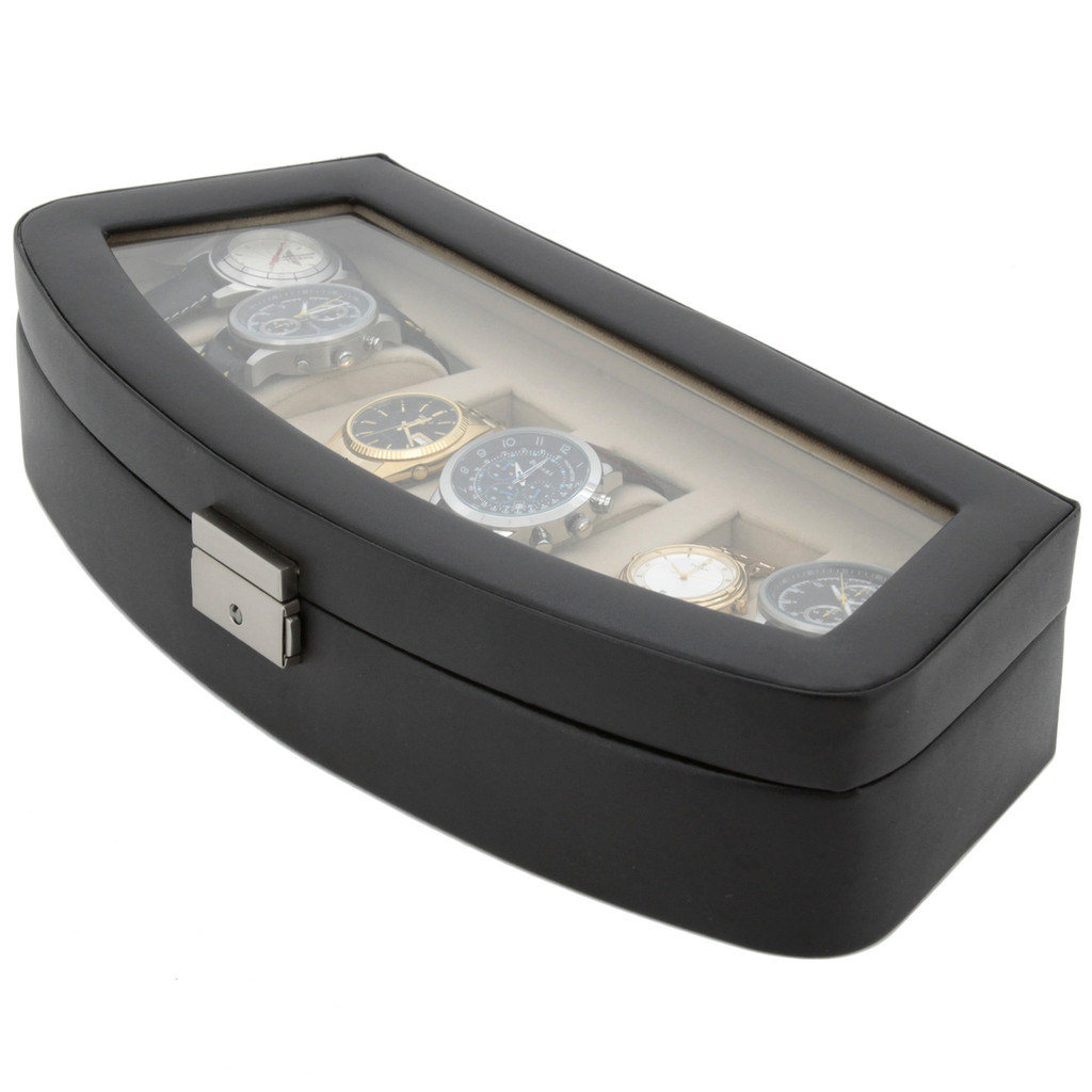 Watch Case in Leather | TechSwiss TSA653BLK | Closed