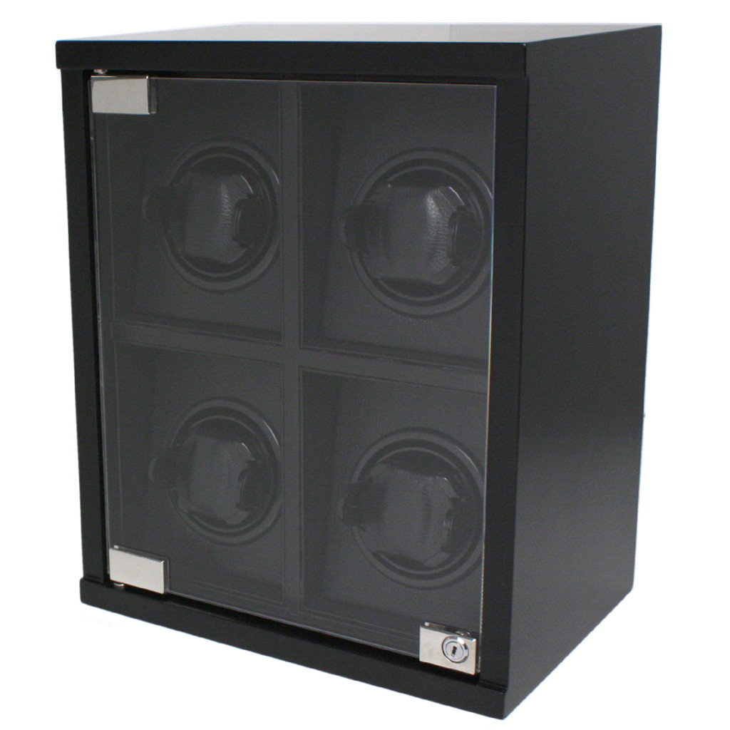 Carbon Fiber 4 Watch Winder TSW400CF Closed front