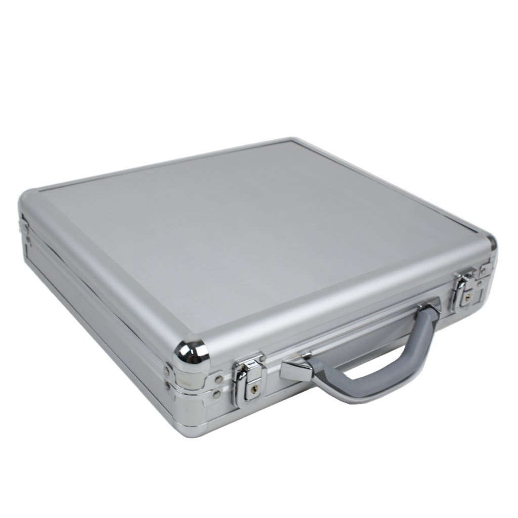 Watch Box 18 Watches Collectors Briefcase Aluminum Metal Case