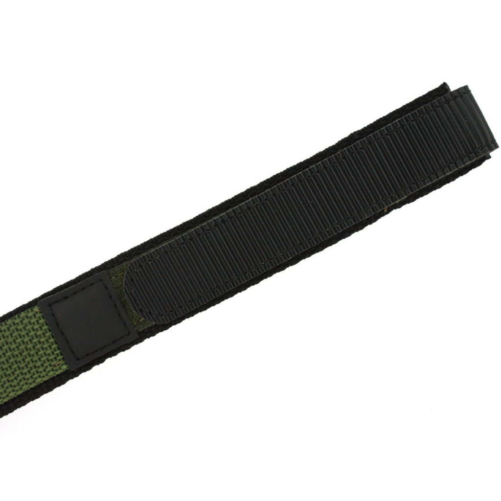 Olive Green Nylon Velcro Sport Watch Strap | TechSwiss VEL100G | Velcro