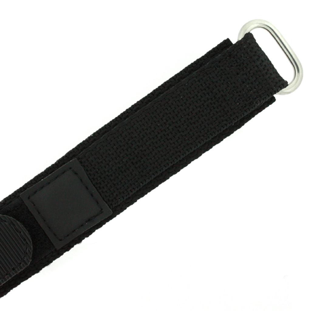 Black Velcro Watch Band | TechSwiss Black Velcro Watch Strap | VEL100BLK | Velcro Clasp
