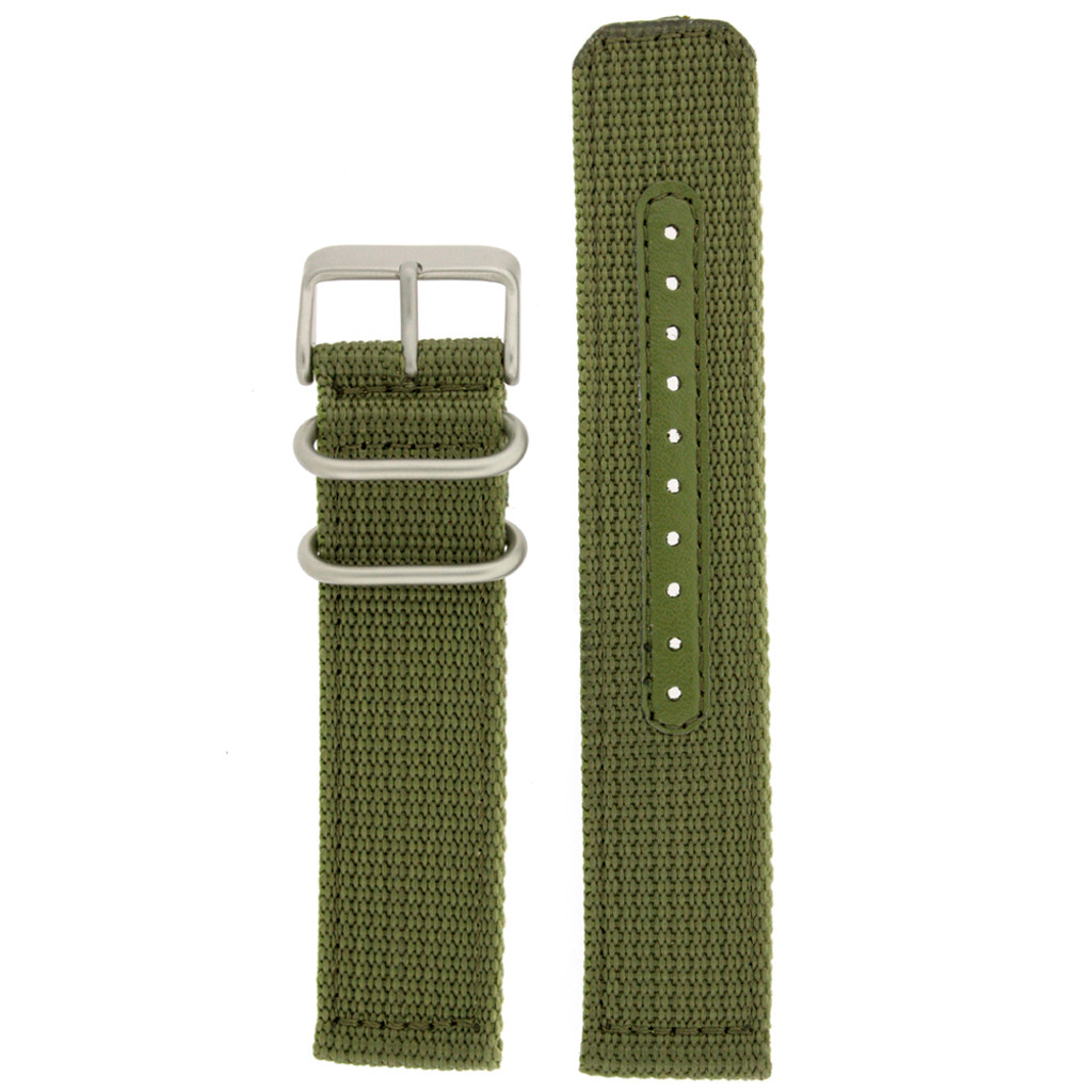 Army Green Nylon Strap with Stainless Steel Buckle