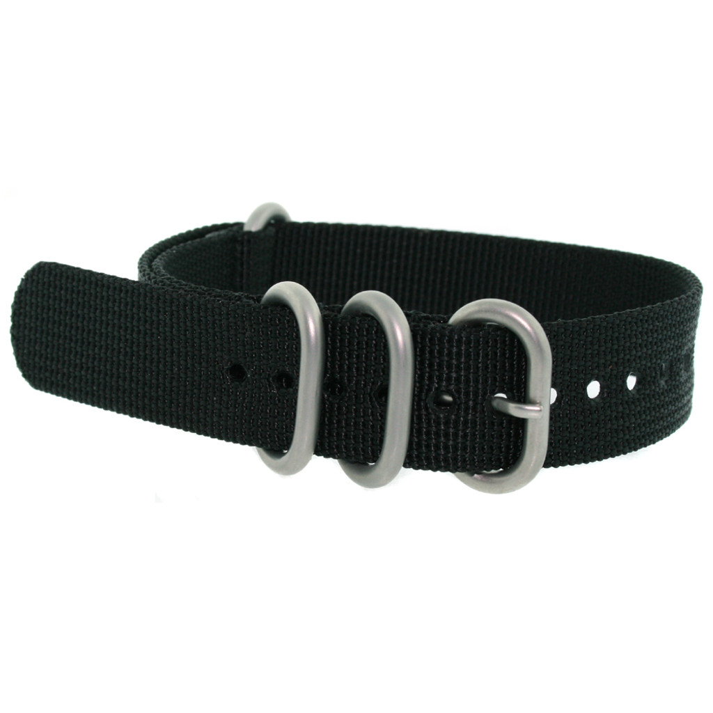 Nylon Strap with Rounded Buckle - Black
