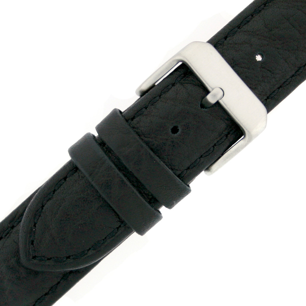 Extra Long Vintage Leather Watch Band | Textured Leather Watch Straps | TechSwiss LEA1420 | Buckle