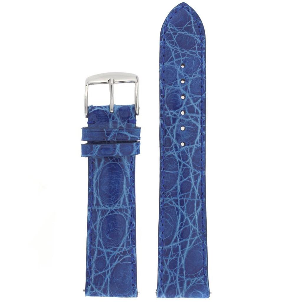 Cerulean Blue Crocodile Watch Band | Genuine Exotic Skin Straps | TechSwiss LEA850S | Main