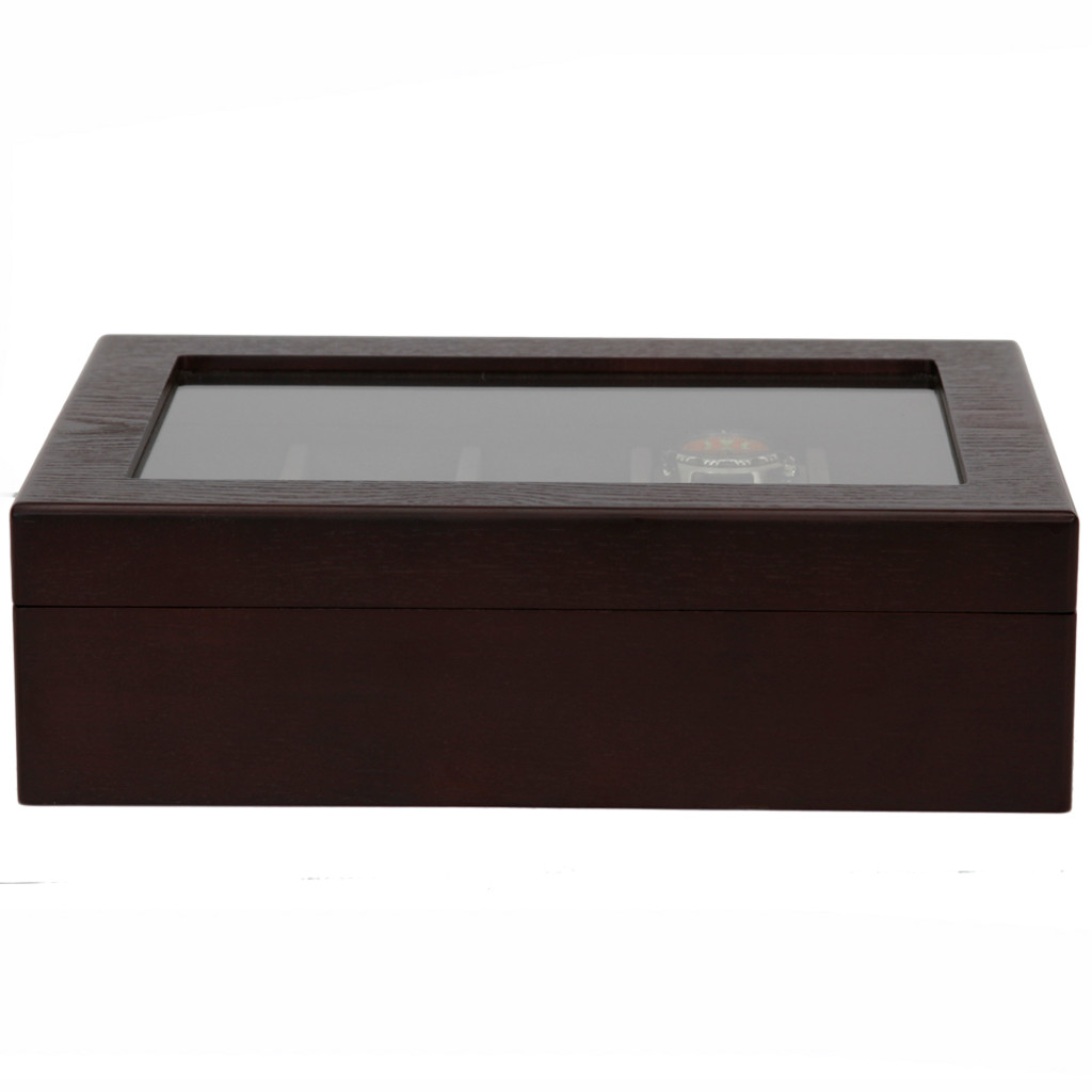 Watch Box in Espresso Finish | Front Closed