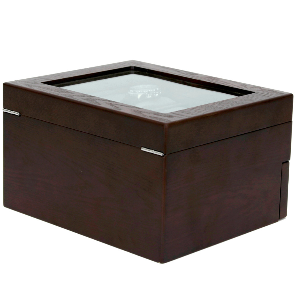 Brown Espresso 20 | Watch Box with High Clearance | TSBOX20ESS back angle