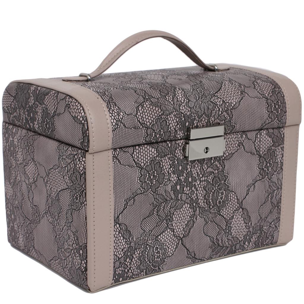 Mauve Lace Jewelry Box | Ladies Luxury Jewelry Cases | TechSwiss  TS0014 | Main