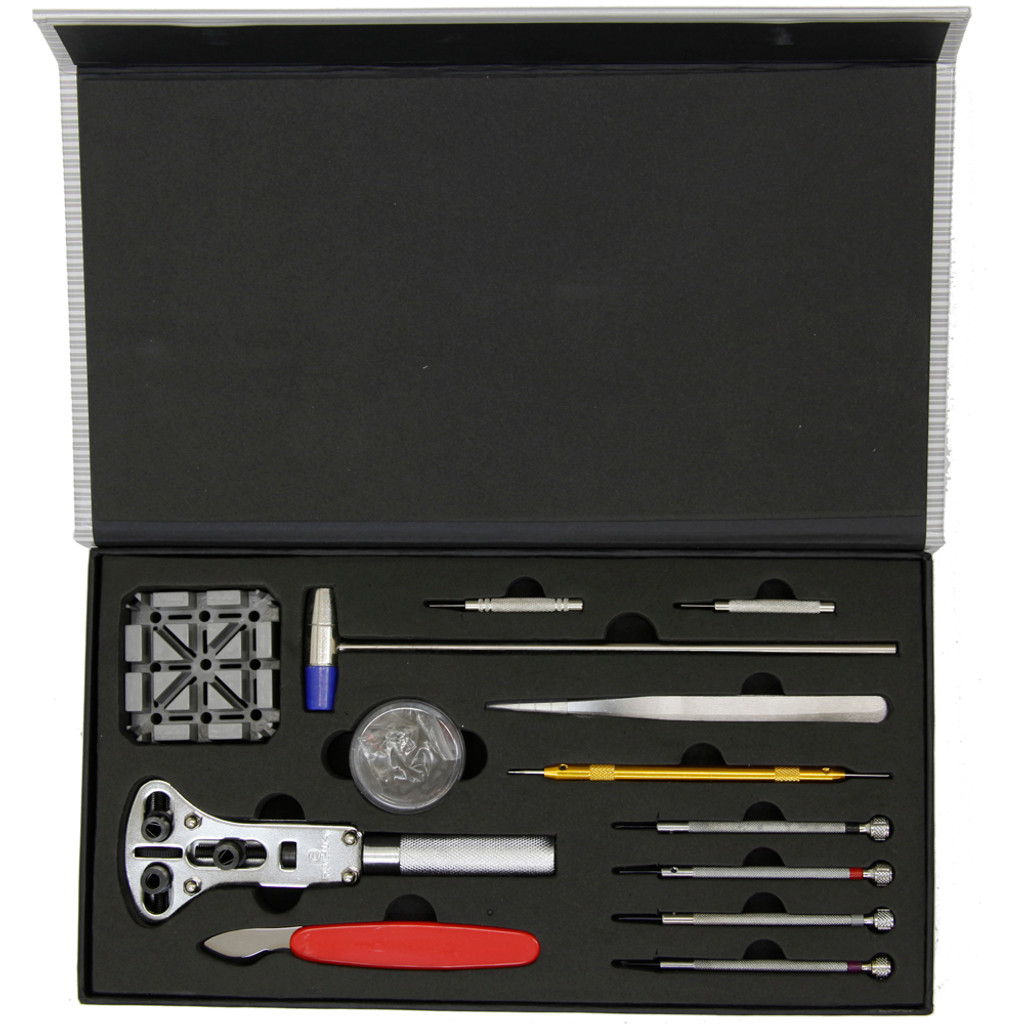 Watch Repair Tool Kit for Battery Changing, Watch Opening, Band Sizing