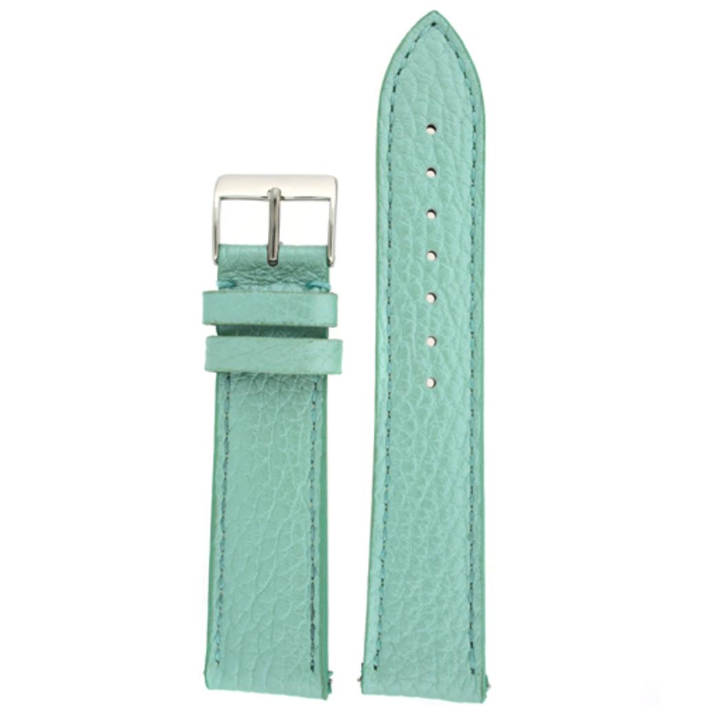 Aqua Leather Watch Band | Natural Leather Watch Strap in Metallic Seafoam |  TechSwiss LEA563 | Main