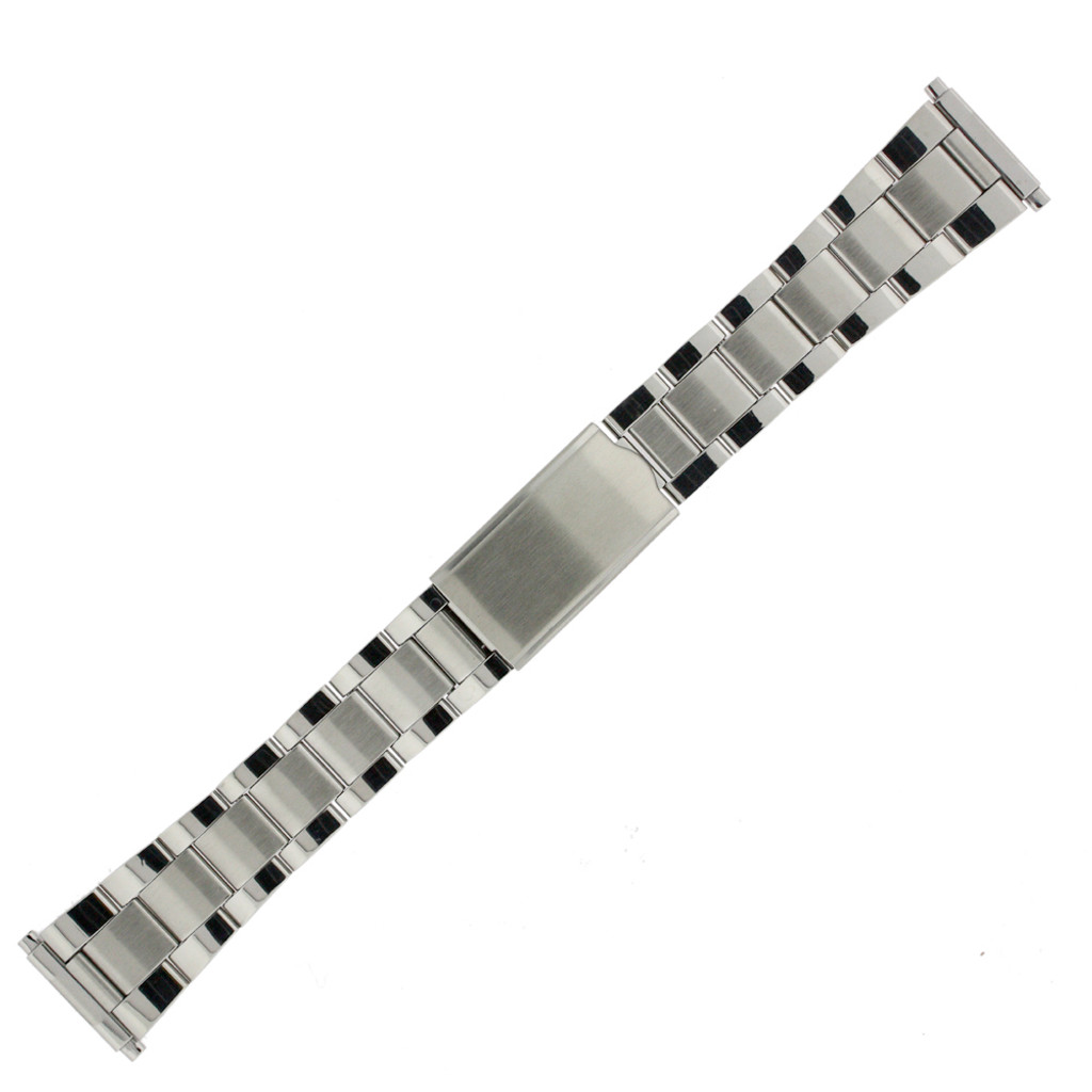 Oyster Style Metal Watch band in Stainless Steel - main picture