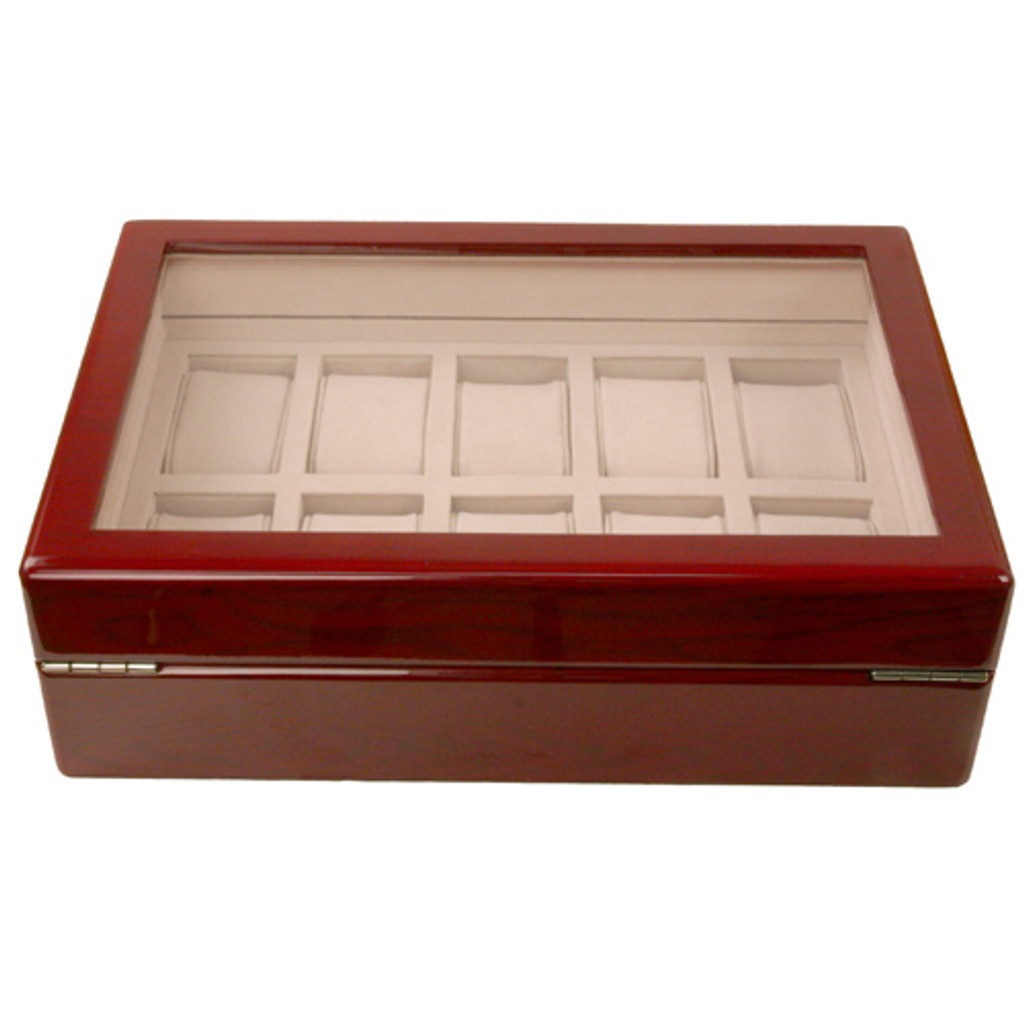 Cherry Watch Box for 10 Watches - Back