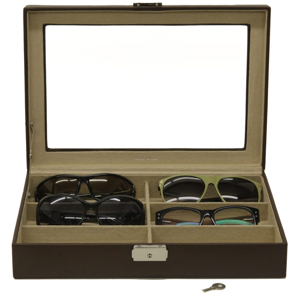 Leather Sunglasses & Eyeglasses Case