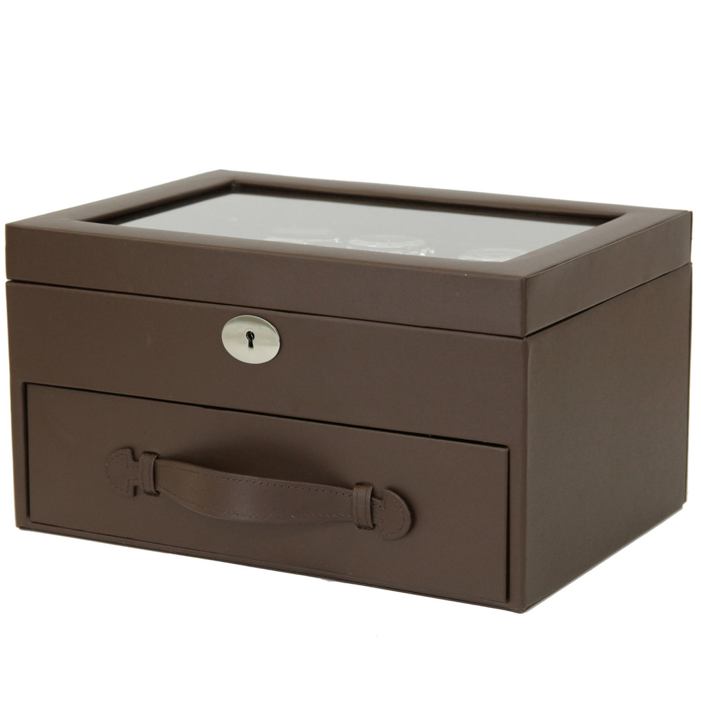 20 Watch Box Storage Case Leather Brown