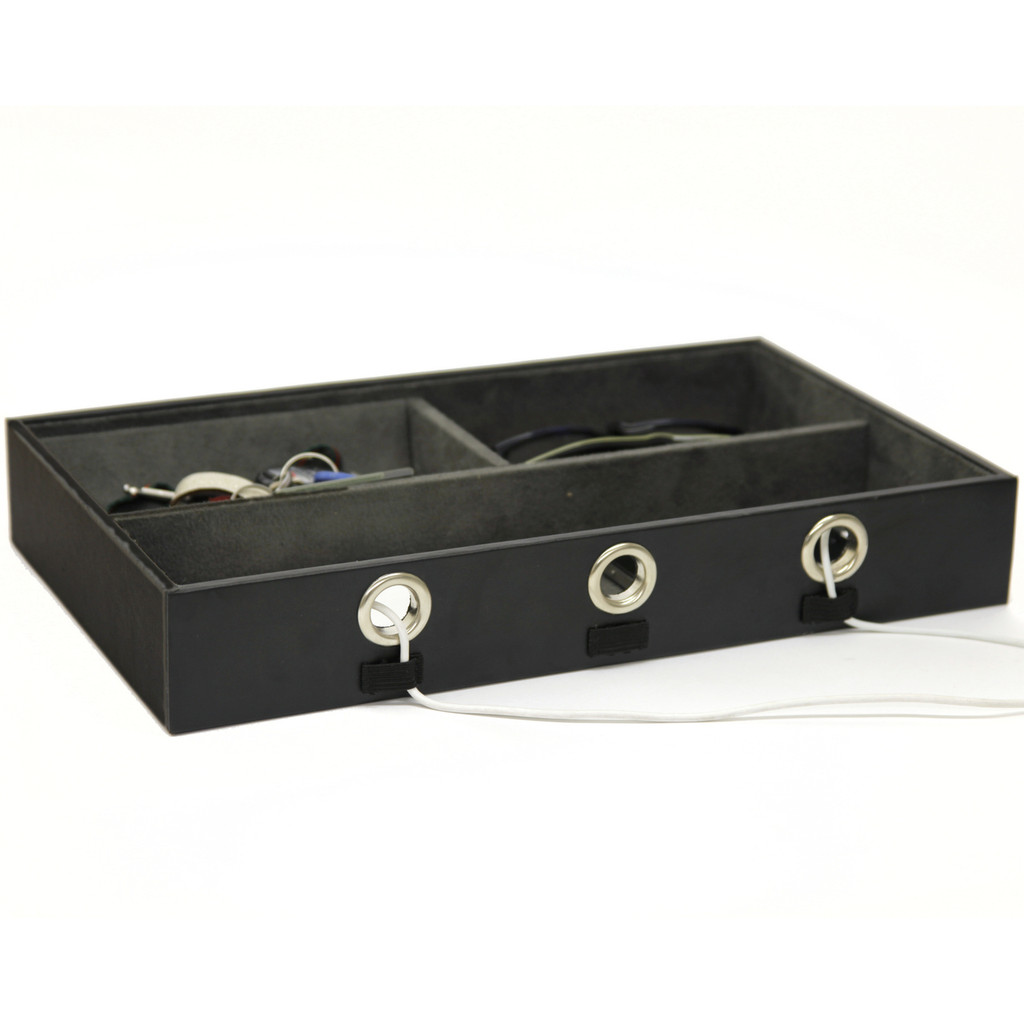 Valet Tray Charging Station in Black