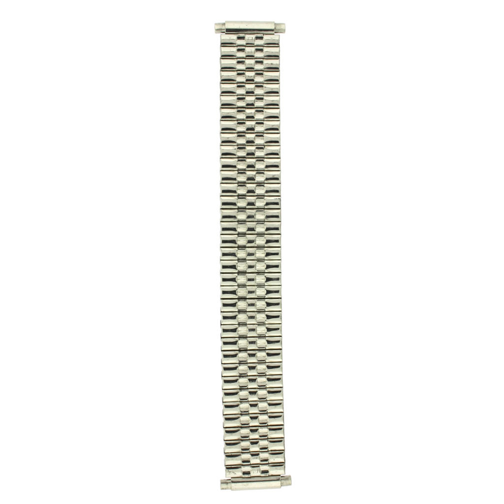 16-22mm Watch Band Expansion Metal Stretch Silver-Tone
