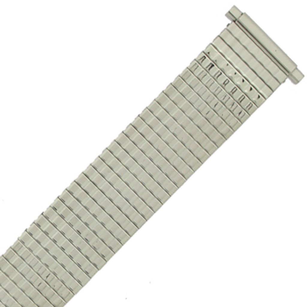 17mm -21mm Watch Band Expansion Metal Stretch Silver Color Thin Line Mens
