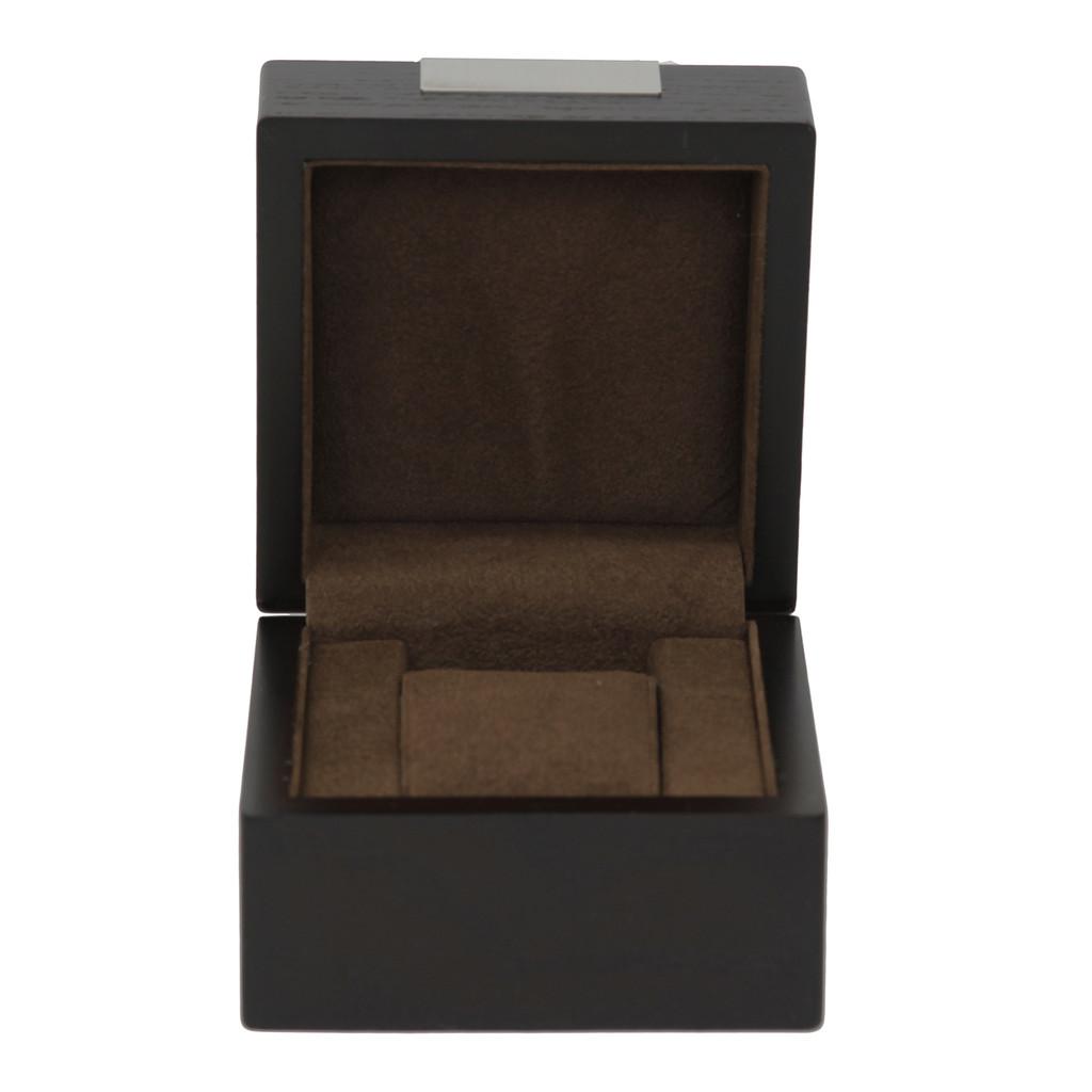 Engravable Single Watch Box - Espresso Brown (TSBX100BRN) single watch box
