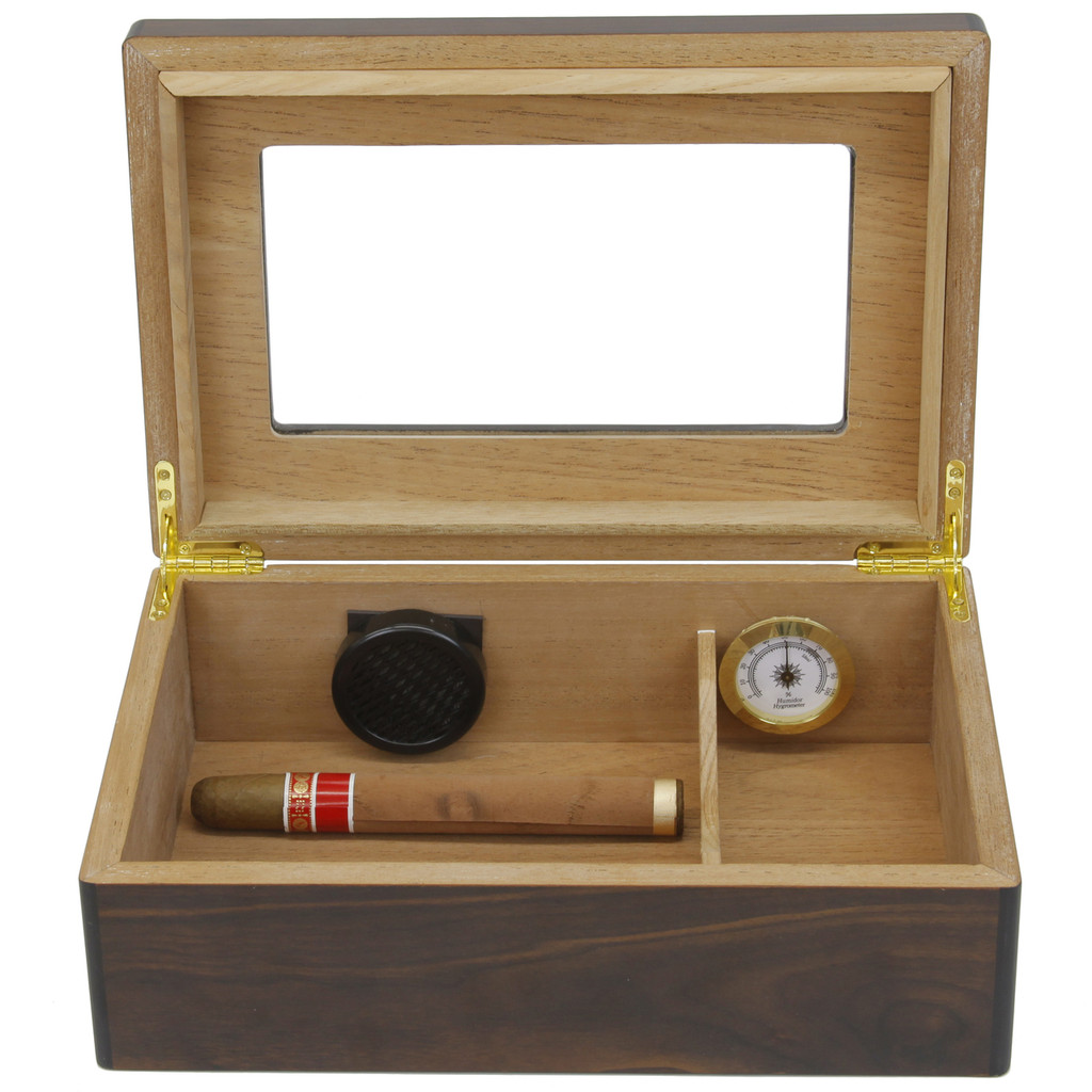 Cigar Humidor Open Front View TSHM100