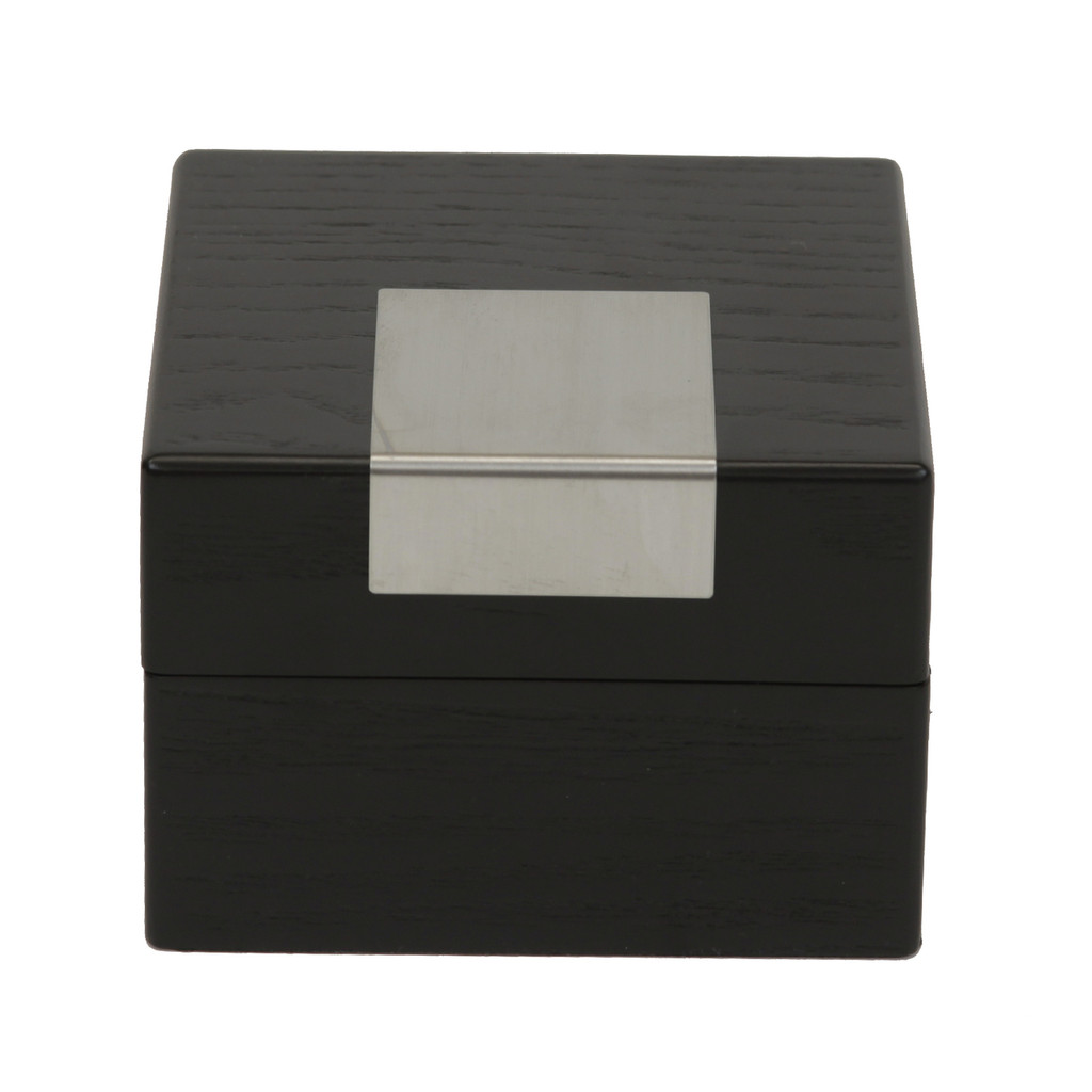 Engravable Black Single Watch Box | TSBX100BLK | TechSwiss Front Closed