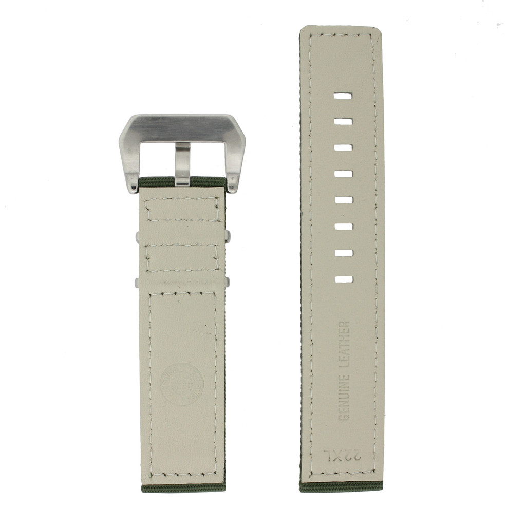 Extra Long Nylon Military Green Watch Band | TechSwiss LEA1583 | Lining