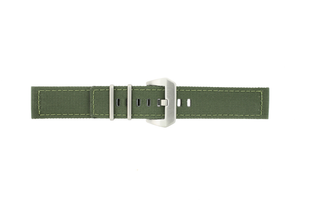 Extra Long Nylon Military Green Watch Band | TechSwiss LEA1583 | Buckle