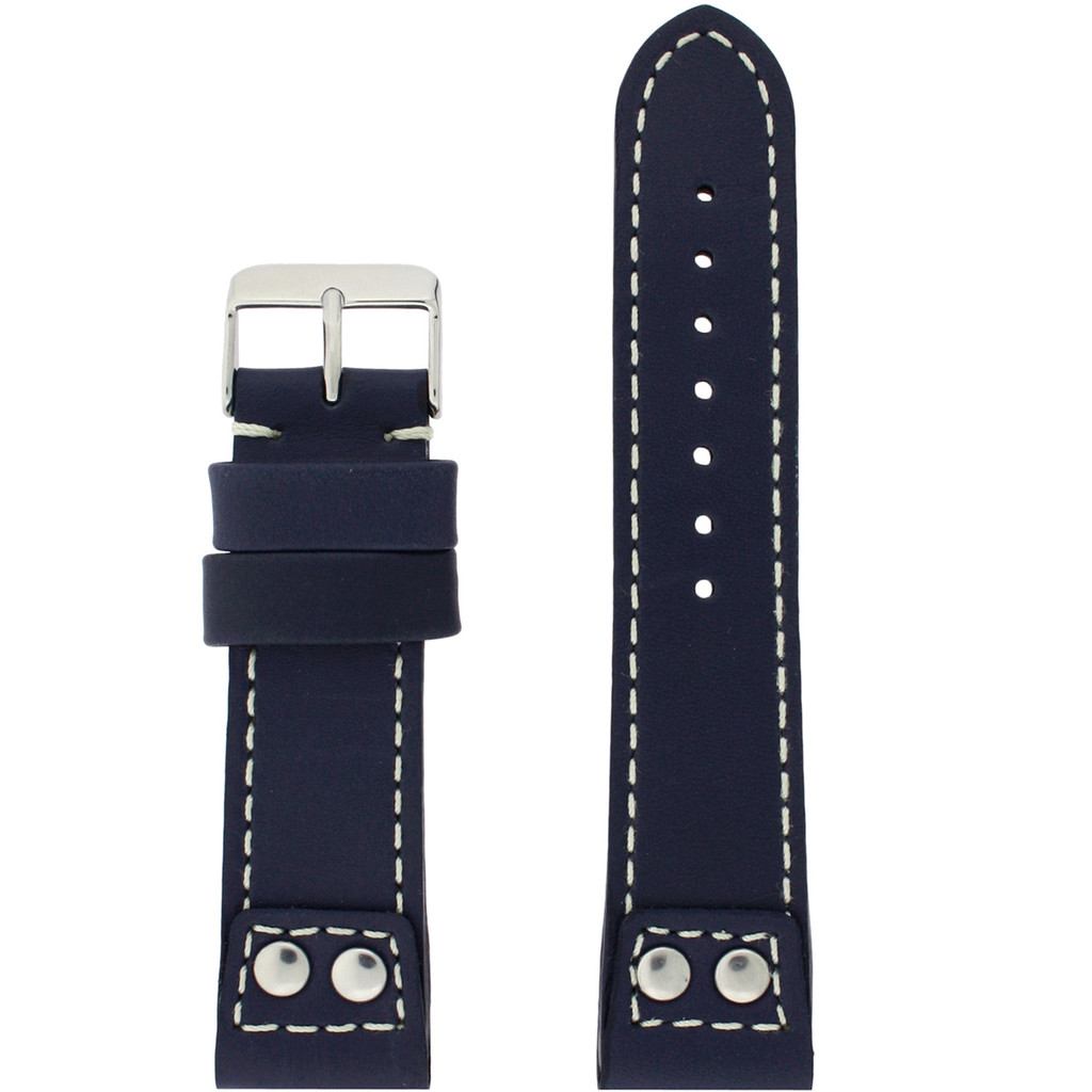 Navy Pilot Style Watch Band | TechSwiss Leather Straps | LEA1660 | Main